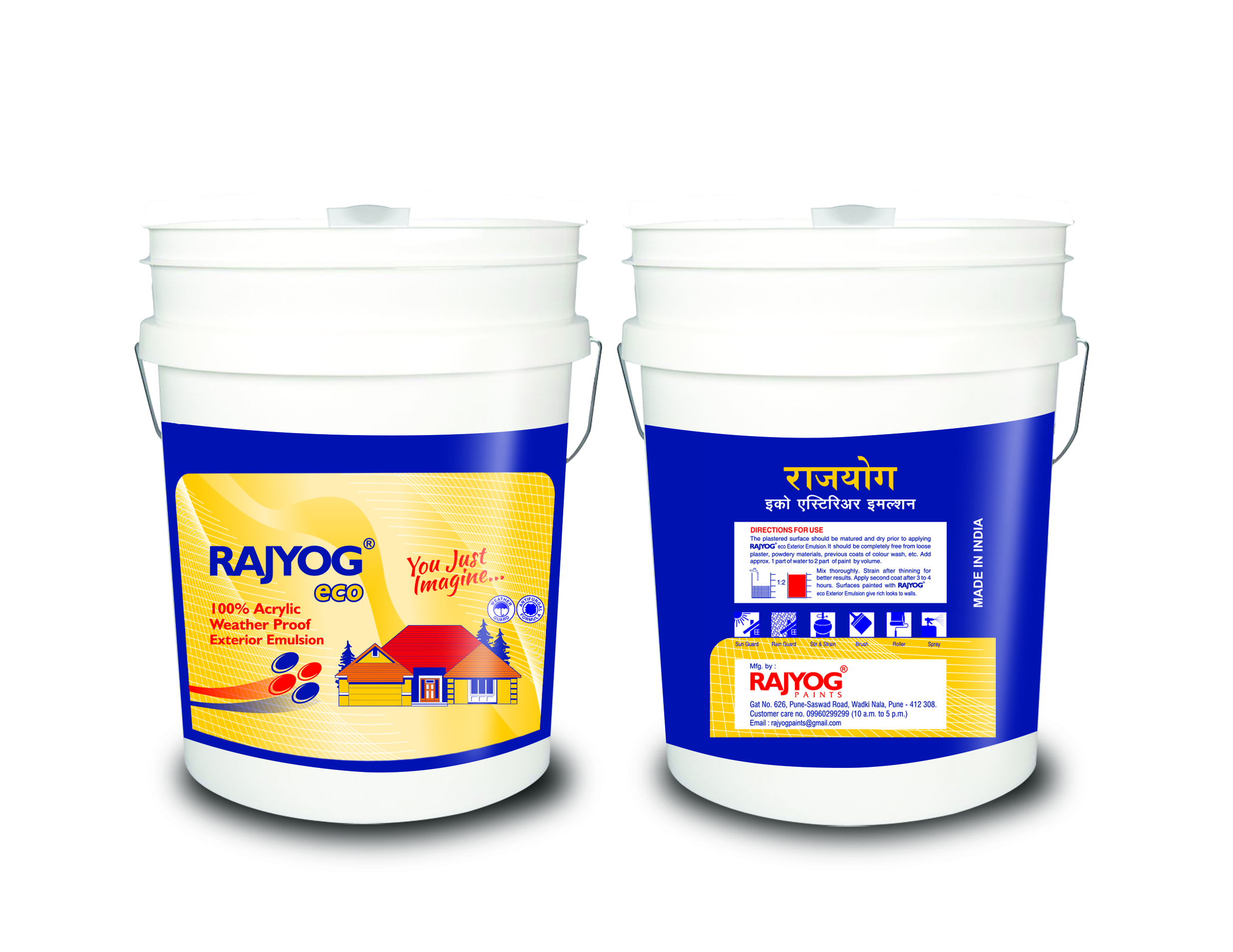 Decorative paints rajyog paints for Fungal wash for exterior walls